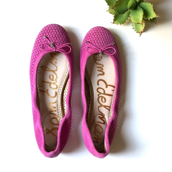 0669ceb8912ee NWT Sam Edelman Felicia Flat in Pink Suede Leather